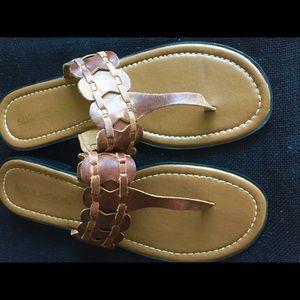 Allyson Whitmore Leather Flop Flop Sandal Sz 9